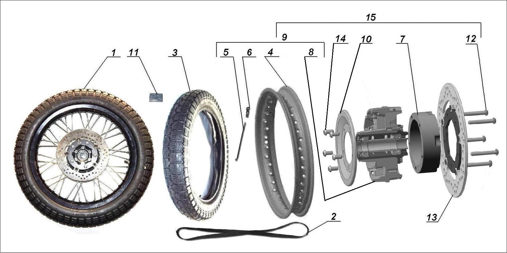 Black sidecar wheel